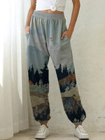 Load image into Gallery viewer, Lady's Mountain print slacks