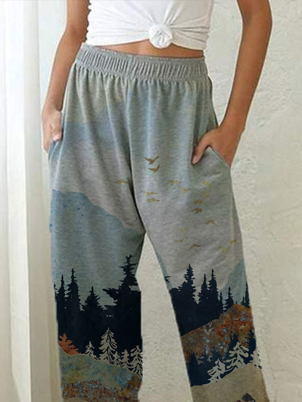 Lady's Mountain print slacks