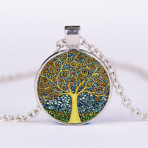 Tree of Life Timestone alloy vintage necklace