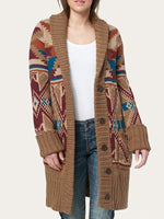 Load image into Gallery viewer, Western Classic Aztec Cozy Cardigan