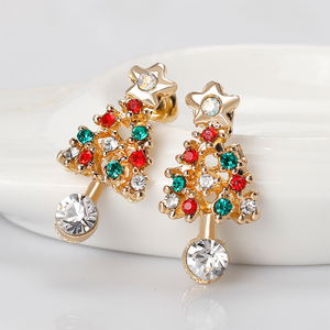 Women's Crystal Christmas Tree Earrings