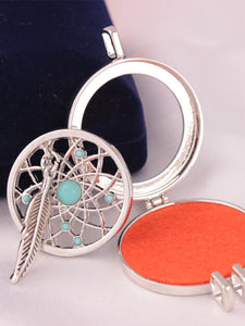 Turquoise Dream Catcher Photo Frame Necklace