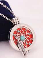 Load image into Gallery viewer, Turquoise Dream Catcher Photo Frame Necklace