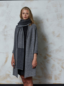 Women's Long Natural Wool Cardigan Coat