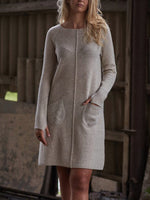 Load image into Gallery viewer, Seam Accent Patch Pocket Knit Dress