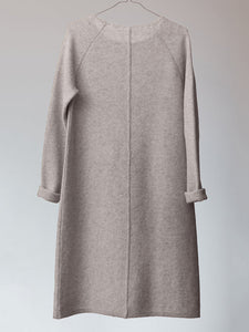 Seam Accent Patch Pocket Knit Dress