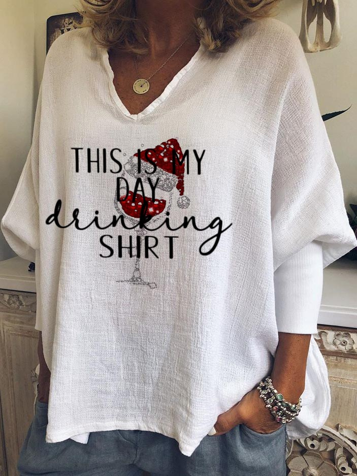 Women's This Is My Day Drinking Shirt Casual Top