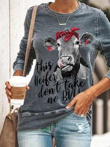 Heifer Take No Bulls Print Tee