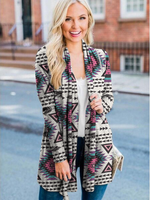 Load image into Gallery viewer, Ladies ethnic pattern element printed casual jacket
