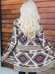 Ladies ethnic pattern element printed casual jacket
