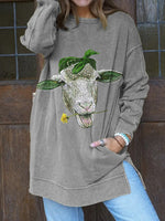 Load image into Gallery viewer, Sheep Love Daisy Casual Pullover