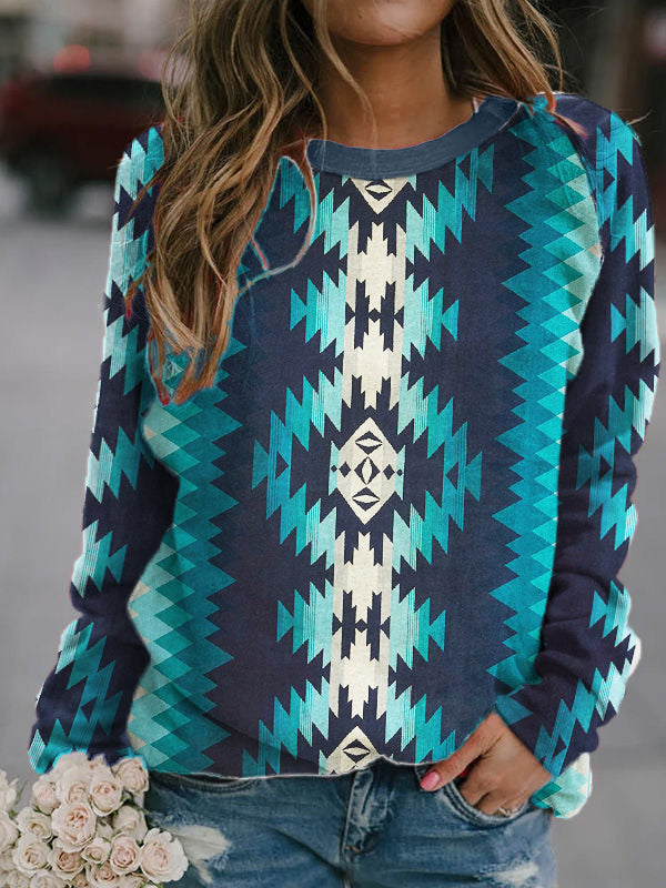 Western Aztec Casual Pullover