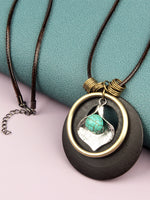 Load image into Gallery viewer, Vintage Turquoise Calla Lily Necklace