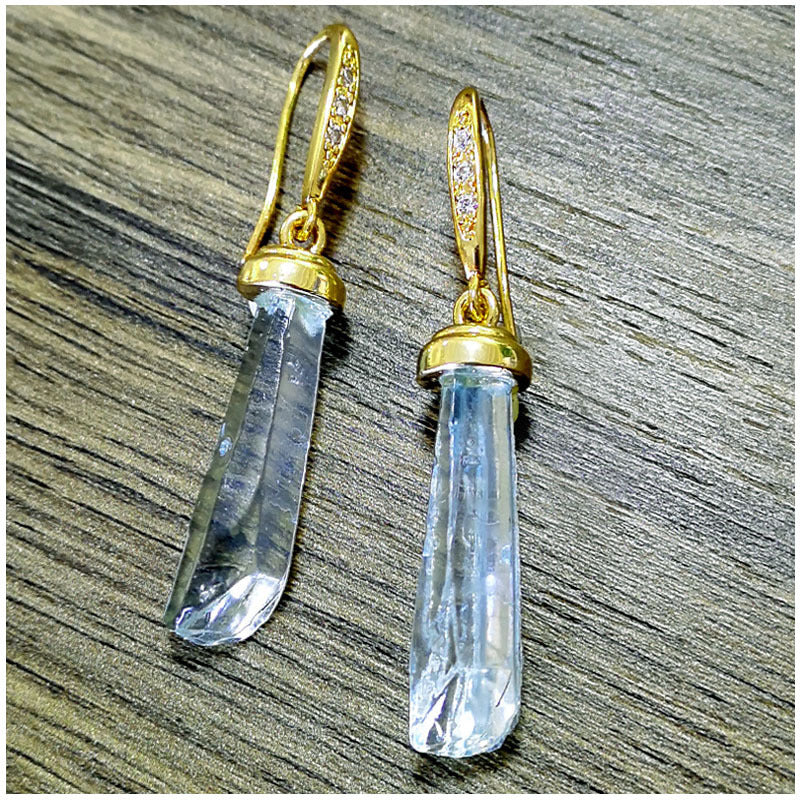 18k gold plated crystal earrings