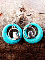 Load image into Gallery viewer, Bohemian Natural Turquoise Earrings Bird Nest Earrings