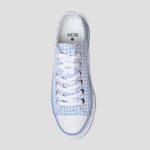 Women's Navy Plaid Canvas Shoes