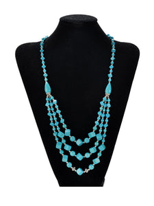 Hand-woven turquoise multi-layer necklace