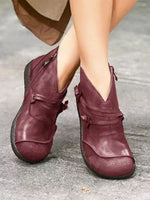 Load image into Gallery viewer, Women's Retro Flat Short Martin Boots