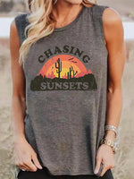 Load image into Gallery viewer, Women's CHASING SUNSETS Cactus Print Vest
