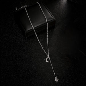 Women's Retro Moon Sun Necklace