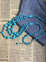 Load image into Gallery viewer, Hand-woven turquoise multi-layer necklace