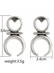 Women's Simple Fashion Transport Symbol Earrings