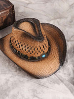 Load image into Gallery viewer, Western Cowboy Sunshade Straw Hat