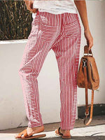 Load image into Gallery viewer, Women's Casual Cotton Linen Printed Loose Pants