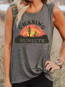 Women's CHASING SUNSETS Cactus Print Vest