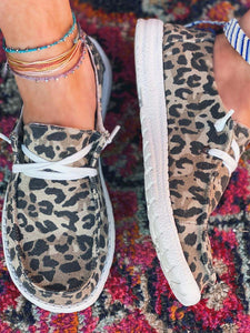 Women's Leopard Printed Canvas Shoes