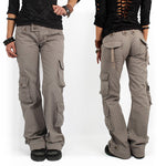 Load image into Gallery viewer, Multi-pocket Baggy Trousers Flared Cargo Pants