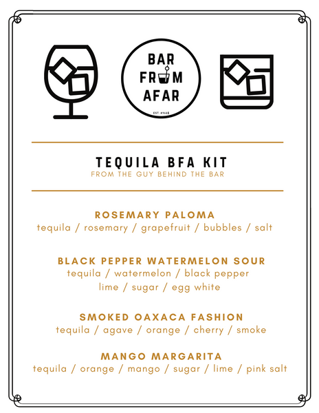 Tequila cocktail menu