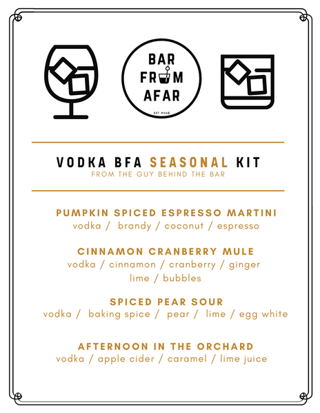 Seasonal Vodka Menu