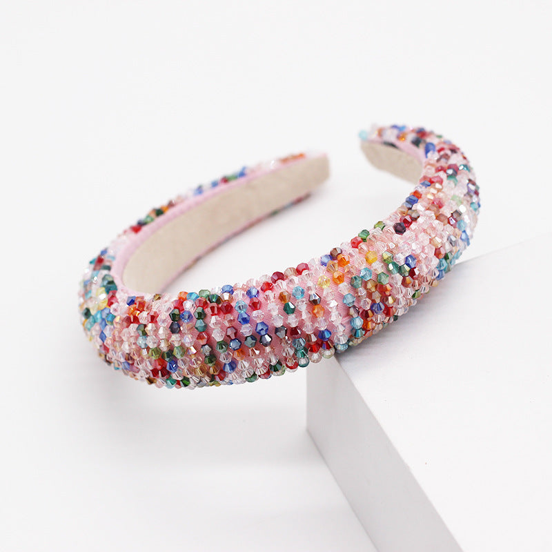 Acrylic Beaded Headband - Queen P Boutiquee