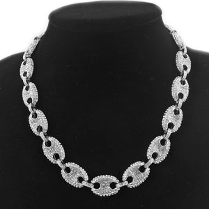 Coffee Bean Necklace Silver - Queen P Boutiquee