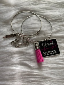 Blessed Nurse Bangle - Queen P Boutiquee