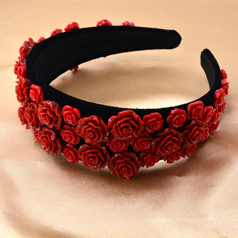 Red Acrylic Headband with Matching Earrings - Queen P Boutiquee