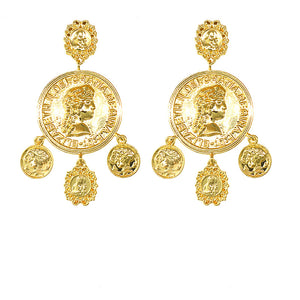Coin Court Palace Earrings - Queen P Boutiquee