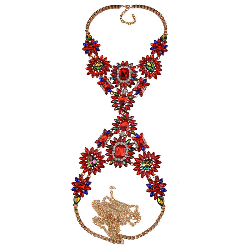 Red Body Chain - Queen P Boutiquee