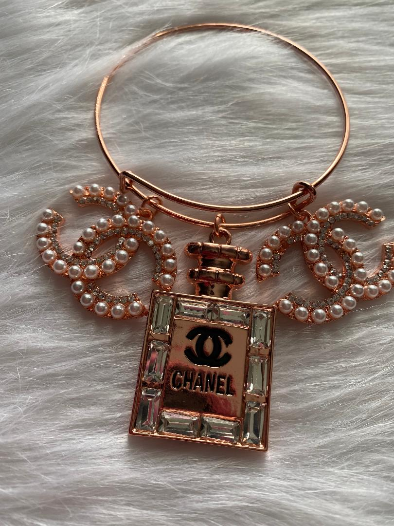 Rose Gold Chanel Inspired Bangle - Queen P Boutiquee