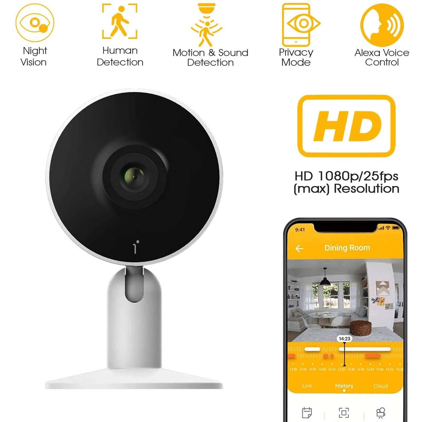 IN1 Indoor 1080p Wi-Fi Mini Security Camera