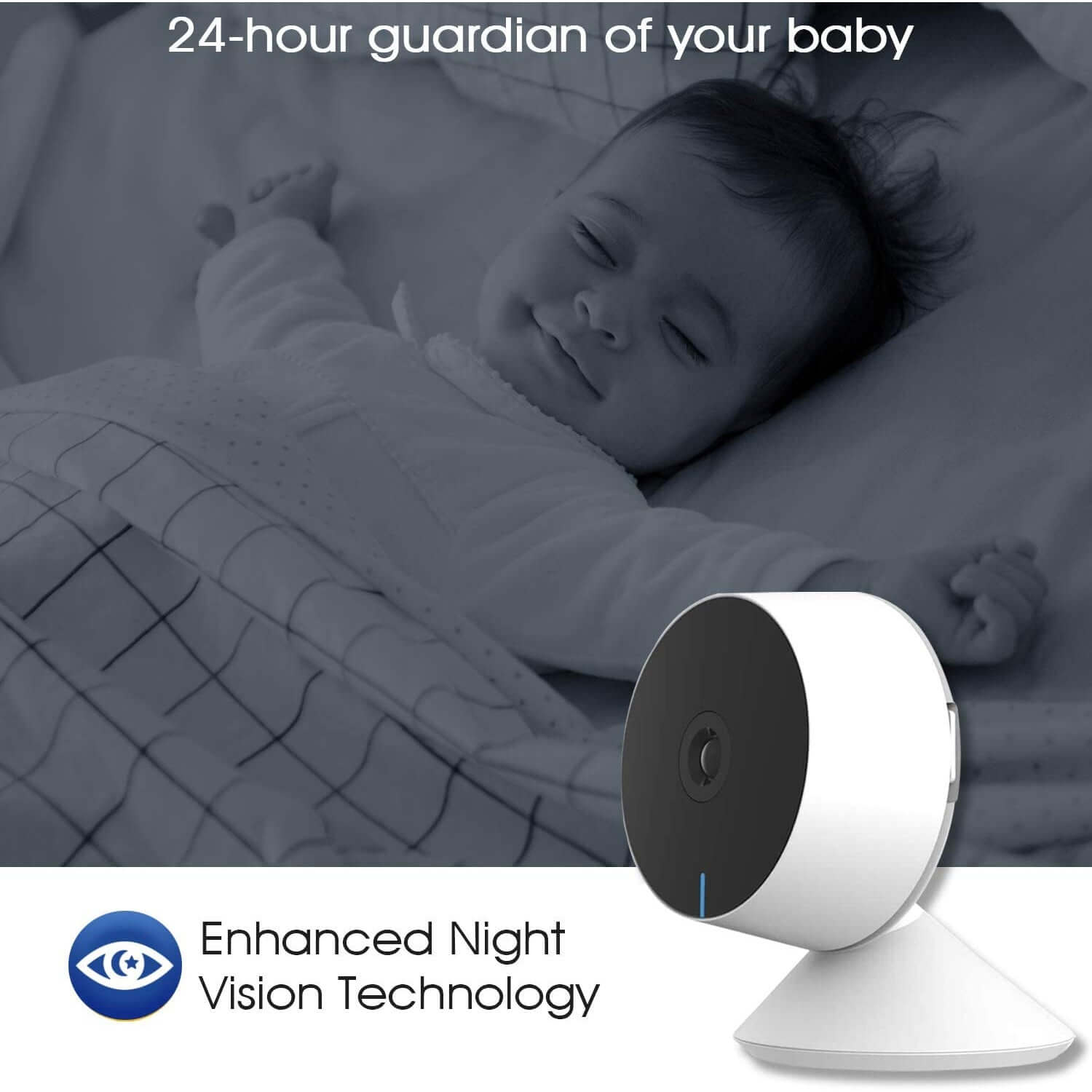 M1 Indoor 1080p Wi-Fi Mini Camera Baby Monitor