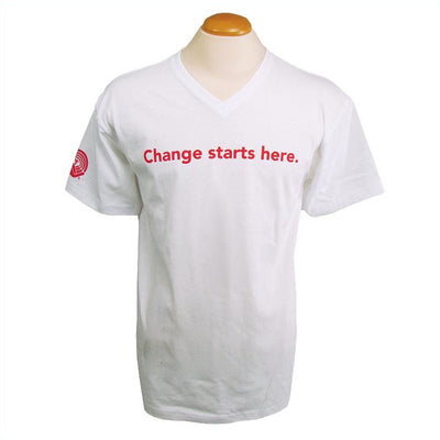 Men's United Way V-Neck T-Shirt – Change starts here - Universal Promotions Universelles