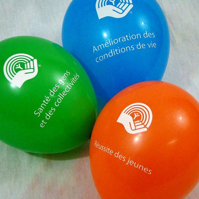 Set of colourful United Way Balloons - Universal Promotions Universelles