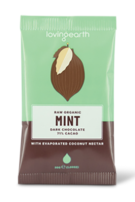 Mint Love Heart Chocolate by Loving Earth