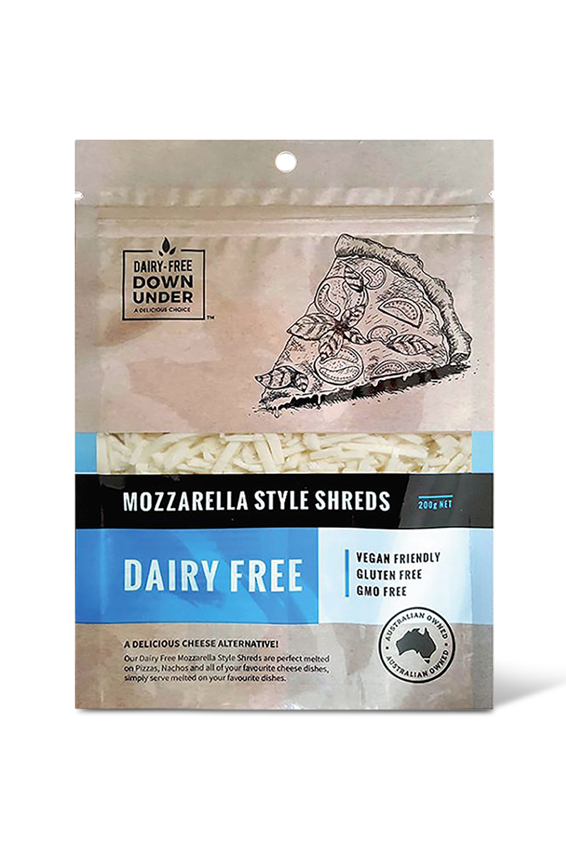Mozzarella Style Shreds by Dairy-Free Down Under