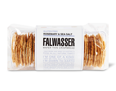 Rosemary and Sea Salt Crackers by Falwasser