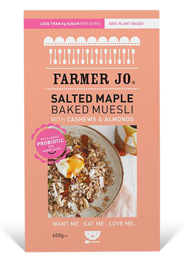 Salted Maple Baked Muesli by Farmer Jo