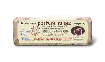 Biodynamic Pasture Raised Organic Eggs by Mulloon Creek