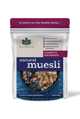 Natural Cranberry Muesli by Brookfarm
